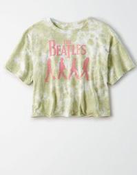 Tailgate Women's The Beatles Tie-Dye Cropped T-Shirt