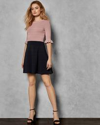 Frill knitted dress