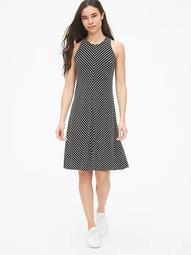 Stripe Twist-Back Tank Dress