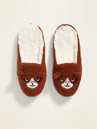Plush Critter Slide Slippers for Women