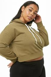 Plus Size Cropped Hoodie