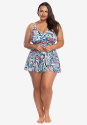 Surplice Skirted One-Piece by Chaps