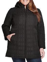 Plus Multi Quilted Shaped Walker Jacket