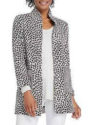 Petite PetiteSavanna Leopard-Print Cotton-Blend Jacket