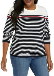 Plus Size Striped Lucy Sweater