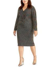 Plus Size Knotted Midi Dress