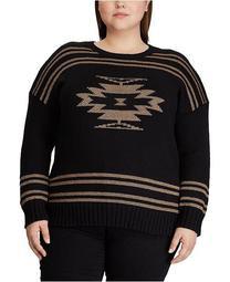 Plus Size Cotton-Blend Sweater