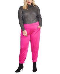 Plus Size Metallic Turtleneck Sweater