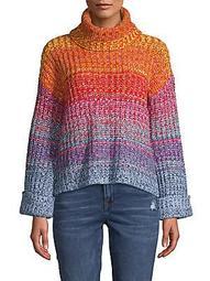 Ombré Turtleneck Sweater