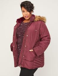 Woodland Hooded Jacket with Faux Fur