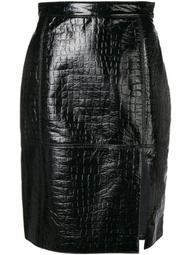 crocodile effect skirt
