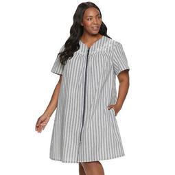 Plus Size Croft & Barrow® Woven Zip Robe