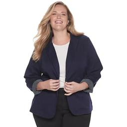 Plus Size Croft & Barrow® Effortless Stretch Blazer