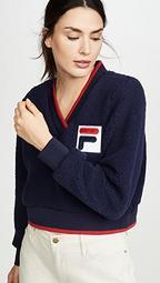 Sylvia Crop Sherpa Sweatshirt