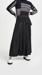Flou Skirt with Peplum