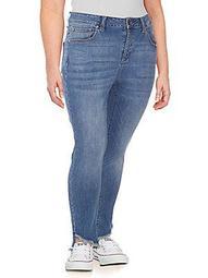 Plus Raw-Hem Skinny Jeans