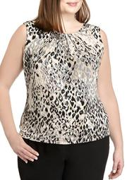Plus Size Sleeveless Animal Print Camisole