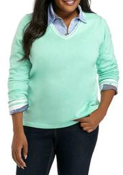 Plus Size Ivy Sweater with Tipping