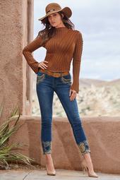 Rockstar Studded Ankle Jean