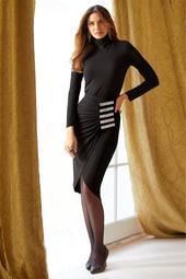 Ruched Embellished Midi Skirt