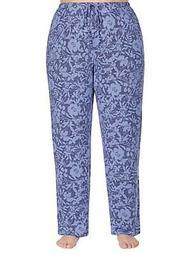 Plus Floral-Print Pajama Pants