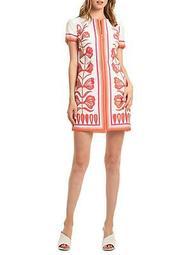 Floral Front Zip Sheath Dress