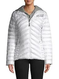 Zip-Front Packable Puffer Coat