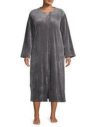 Plus Long Zip-Front Robe