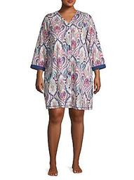 Plus Paisley Printed Sleep Shirt