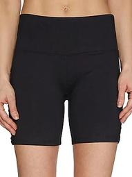 Skinny Band Cut-Out Shorts