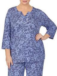 Plus Printed Pajama Top