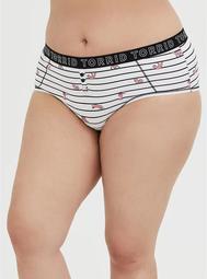 Torrid Logo Stripe Fox Cotton Cheeky Panty