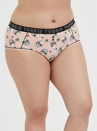 Torrid Logo Peach Floral Skull Cotton Cheeky Panty