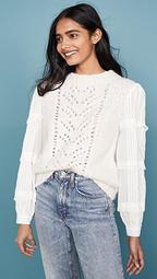 Emma Eyelet Combo Sweater