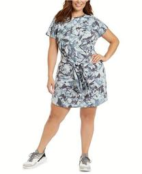 Plus Size Tie-Dye Tie-Front T-Shirt Dress, Created for Macy's