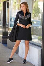 Embellished Zip Sport Dress