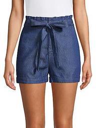 Polka-Dot Paper-Bag Shorts
