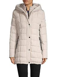 Petite Quilted Snap-Front Jacket