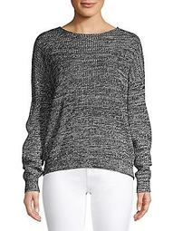 Roundneck Lace-Up Sweater
