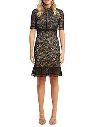 Theodora Lace Sheath Dress