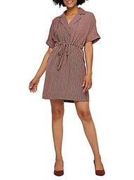 Printed Woven Drawstring Dress