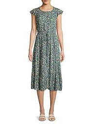 Felicia Floral Button-Front Dress