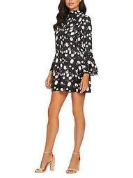 Floral Bell-Sleeve Mini Dress