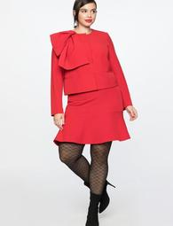 Mini Skirt With Flounce