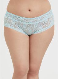 Aqua Blue Lacey Cheeky Panty