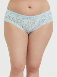 Aqua Blue Lacey Hipster Panty