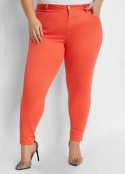 Neon Coral Skinny Jean