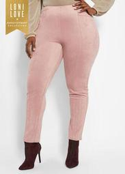 Faux Suede Ankle Pant