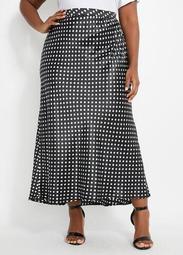 Dot Satin Skirt