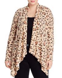 Amie Leopard-Print Open Front Cardigan
